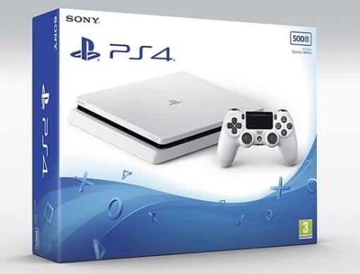 Nouvelle PS4 slim glacier white console blanche 2017