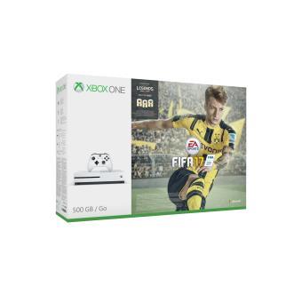Console Microsoft Xbox One S 500 Go Blanc Fifa 17 Prix discount chez fnac