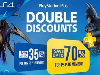 Doubles Réductions PS Plus sont de retour sur PlayStation Store