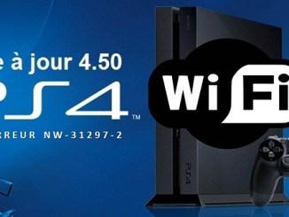 PS4 Code Erreur NW-31297-2 Depuis la mise à jour 4.50