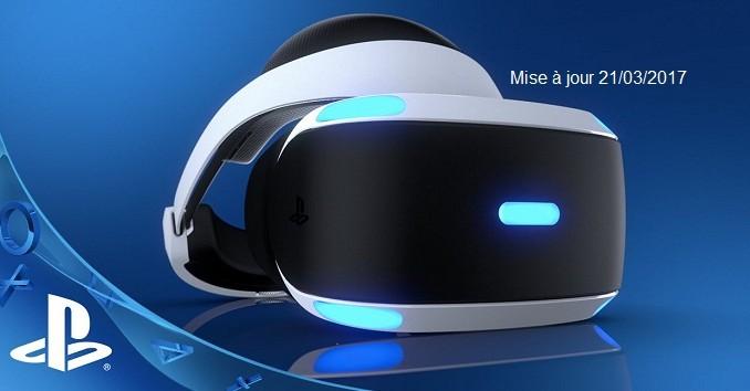 Jeux Playstation VR Liste complète des jeux disponibles mise à jour 21/03/2017