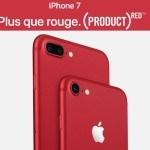 RED: iPhone 7 et l'iPhone 7 Plus se parent de rouge
