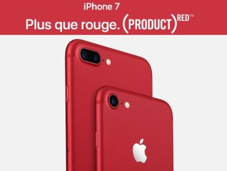 RED iPhone 7 et l'iPhone 7 Plus se parent de rouge