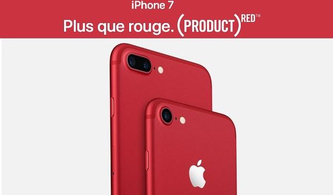 RED iPhone 7 et l'iPhone 7 Plus se parent de rouge