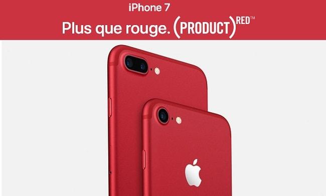 red iphone 7 et l 39 iphone 7 plus se parent de rouge news jeux pc ps4 xbox gta 5. Black Bedroom Furniture Sets. Home Design Ideas