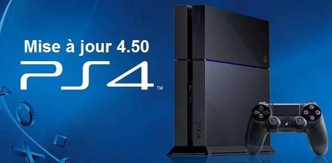 mise à jour 4.50 pour PS4 et ps4 pro disponible en telechargement