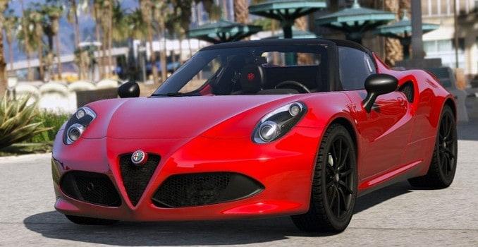 Alfa Romeo 4C Spider 2015 GTA V Mods - GTA 5 PC