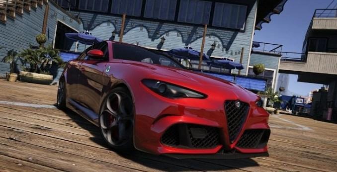 Alfa Romeo Giulia Quadrifoglio 2016 GTA V Mods - Telecharger