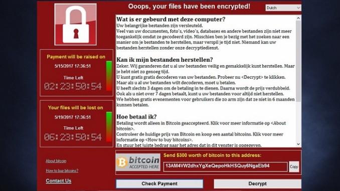 cyberattaque mondiale par ransomware WannaCry demande de rançon en bitcoins