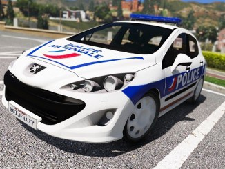 Peugeot 308 Police Nationale GTA V Mods Telecharger
