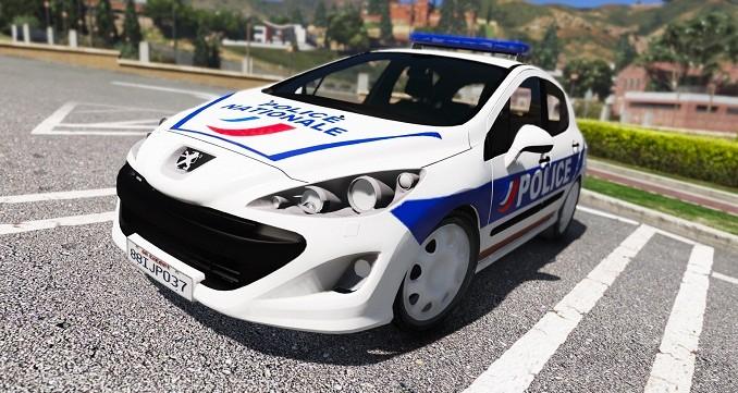 Peugeot 308 Police Nationale GTA V Mods Telecharger