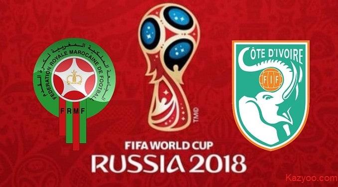 Mondial 2018 : Regarder le match Cote d'Ivoire - Maroc en direct LIVE - kazyoo.com