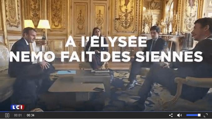 Nemo, le chien du couple Macron urine- Vidéo