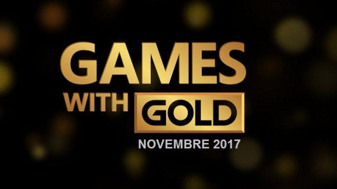 Novembre 2017 Xbox Games With Gold