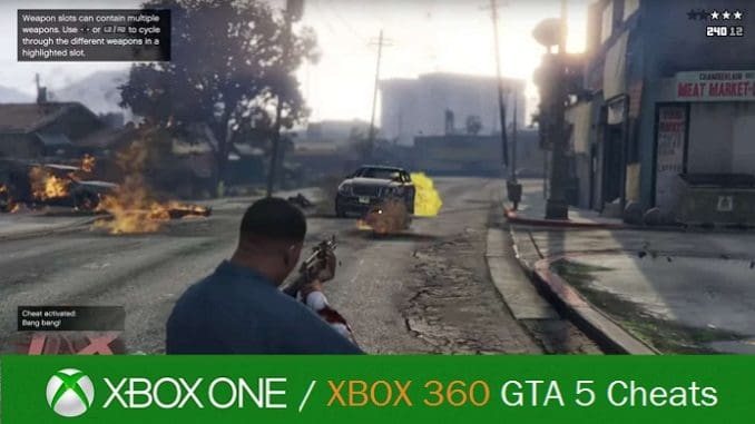 GTA 5 Cheat Codes Xbox One Xbox 360 Grand Theft Auto 5