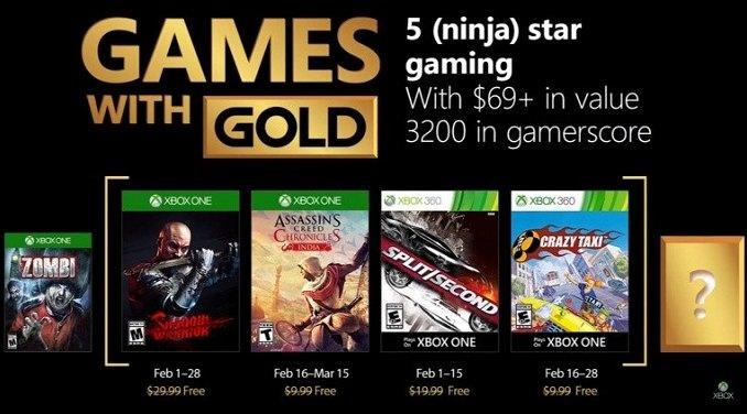 les jeux gratuits Xbox Live Games février 2018