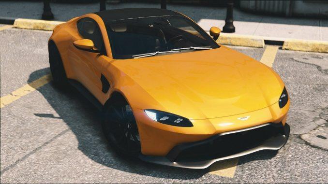 Aston Martin Vantage 2019 GTA V mods