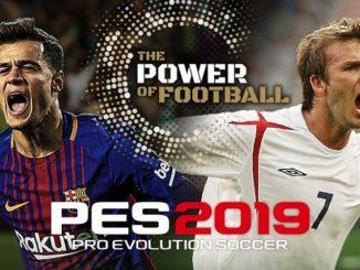 PES 2019 sortie 30 août sur PC xbox et ps4