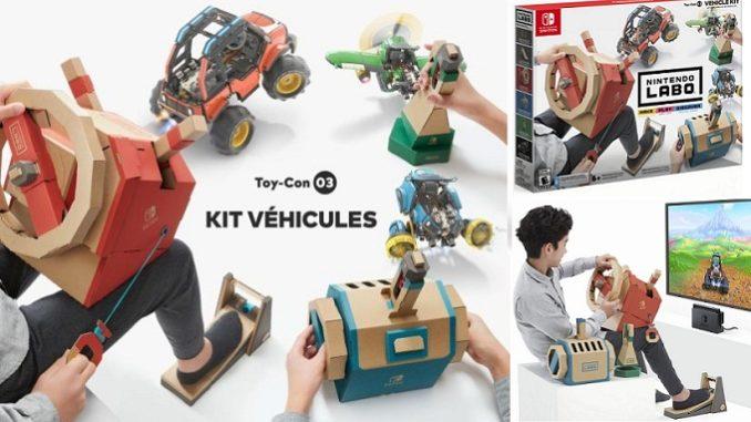 Nintendo Labo Kit Véhicules pour construire voiture, avion et sous-marin