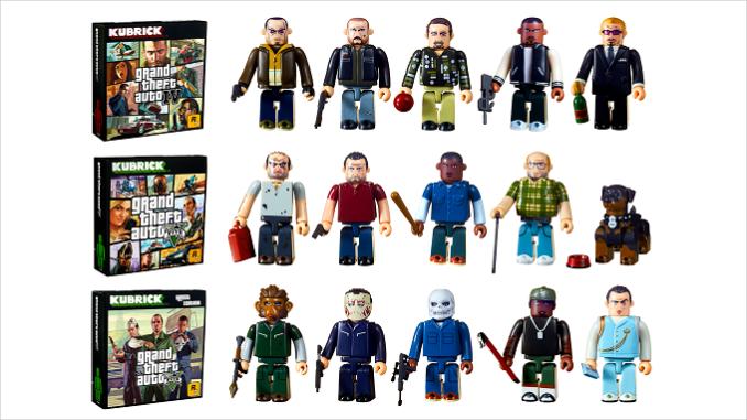 De nouveaux ensemble figurines Kubrick Grand Theft Auto gta IV gta V
