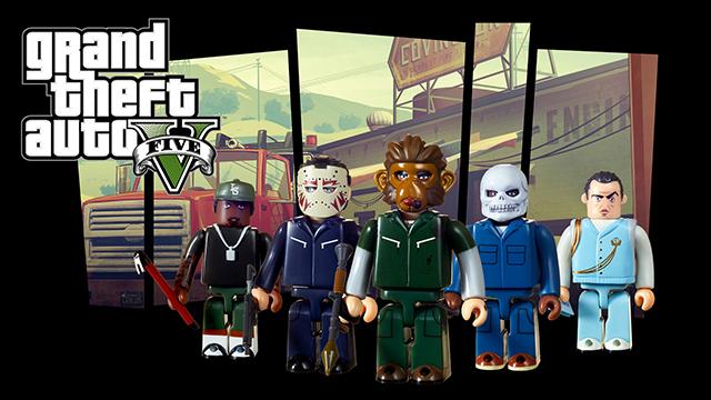 Ensemble de figurines Kubrick Grand Theft Auto V édition spéciale braquages