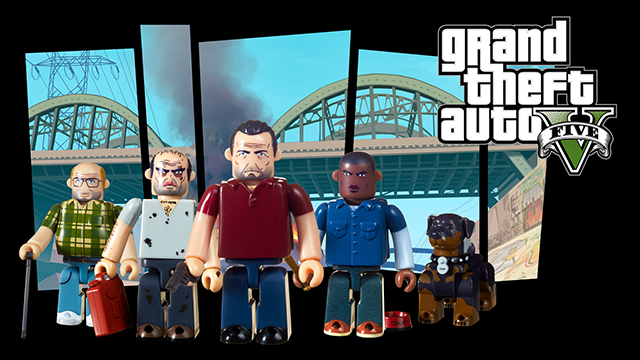 Ensemble de figurines Kubrick Grand Theft Auto V