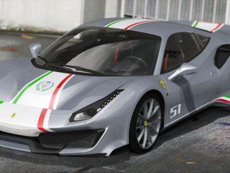 Ferrari 488 Pista 2019 GTA V GTA 5 Mod PC