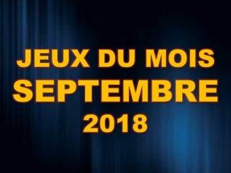 News jeu Prochaines sorties Jeux Video Septembre 2018