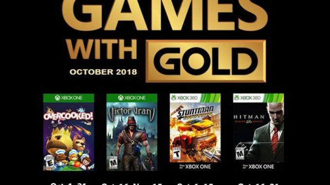 Xbox Games with Gold Les jeux gratuits Octobre 2018