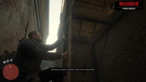 RDR2 Chapitre 4 Mission La banque - Faites sauter le mur et gagner les toits