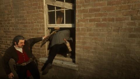 RDR2 Chapitre 4 Mission La banque - Prendre fuite par la fenêtre