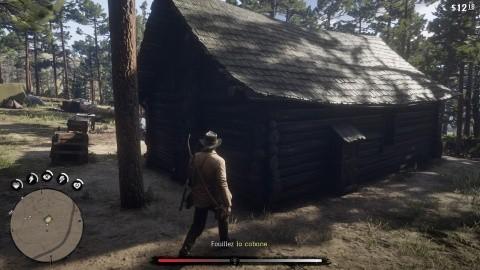 Red Dead Redemption 2 chapitre 2 Mission Visite à l'improviste - Fouillez la cabane