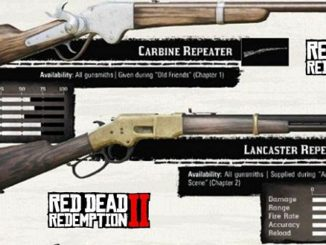 RDR2 Armes - Red Dead Redemption II armes munitions catégories