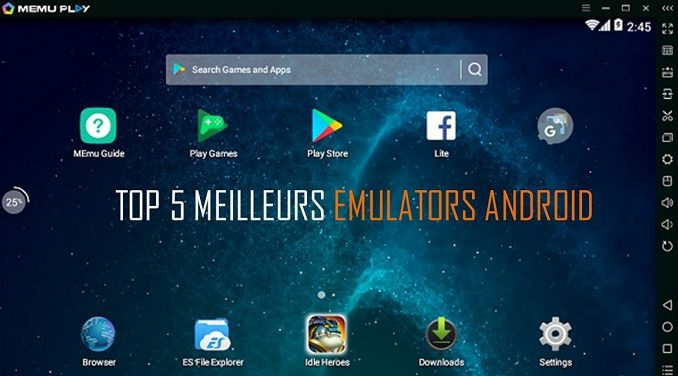 top 5 meilleurs mulateurs android pour lancer des jeux mobiles sur pc. Black Bedroom Furniture Sets. Home Design Ideas