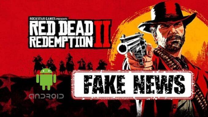 Faux APK - télécharger Red Dead Redemption 2 version Android et iOS