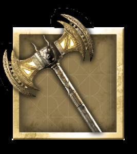 Armes legendaires AC odyssey Lames lourdes Labrys de Minotaure
