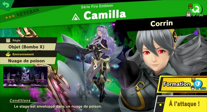Camilla - Guide combats Super Smash Bros Ultimate World of Light 3 et 4 étoile