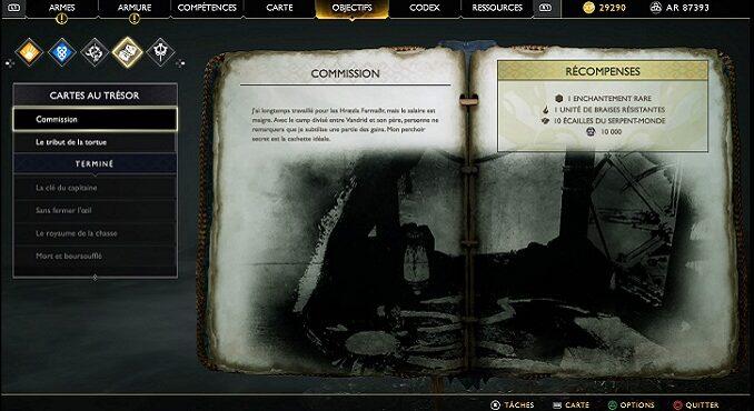 Soluce God Of War 4 Carte au Trésor Commission