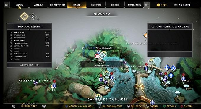 Carte au Trésor L'Historien soluce God Of War 4