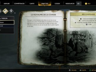 Guide God Of War 2018 Carte au Trésor Royaume de la Chasse