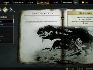 God Of War 4 Carte au trésor Le tribu de la tortue