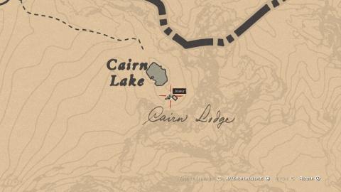 Carte de la piste empoisonnée 1 Cairn Lake