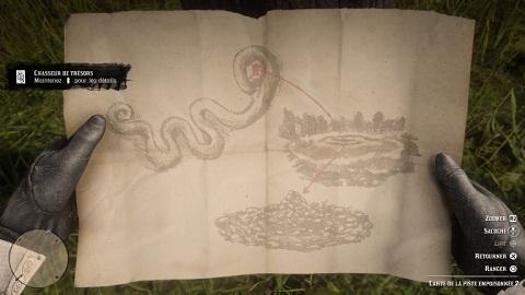 Carte de trésor la piste empoisonnée 2 oeil serpent