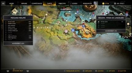 God of WarCartes au trésor A genou devant Thor Mines de Landsudr 01