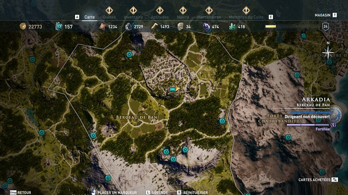 Coffre légendaire Arkadia - Guide AC Odyssey 2018
