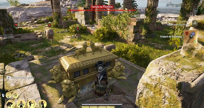 Coffre légendaire Temple de Poséidon - Guide AC Odyssey