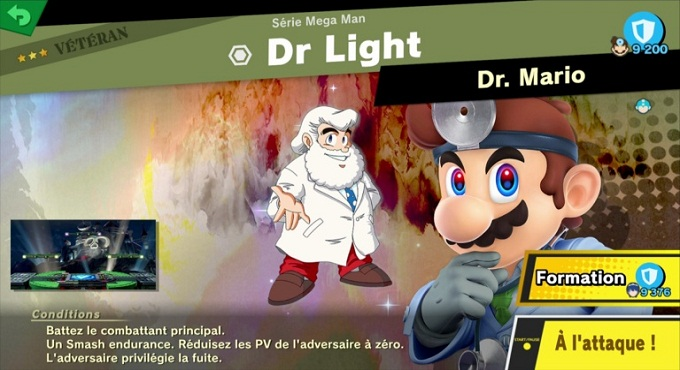 Dr. Light - Super Smash Bros Ultimate World of Light 3 et 4 étoile