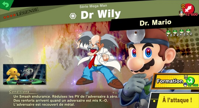 Dr. Wily - Super Smash Bros Ultimate World of Light 3 et 4 étoile
