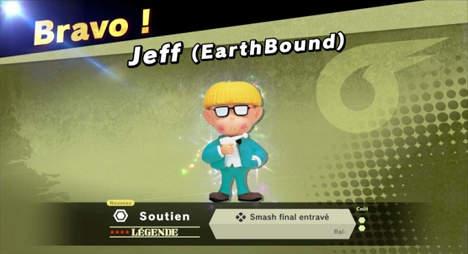 Jeff d-Earthbound Guide combats SSBU 2018 World of Light