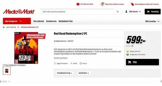 red dead redemption 2 version PC - rdr2 PC